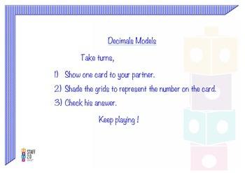 Relate Decimal. Shading the Grids. Math Center 3-5. Dual (Gomez y Gomez)
