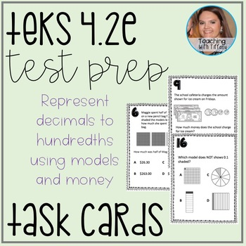 Relate Decimals TEKS 4.2E Task Cards