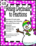 Relate Decimals to Fractions (TEKS 4.2G) STAAR Practice