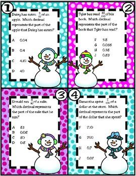 Relate Decimals to Fractions (TEKS 4.2G) STAAR Practice