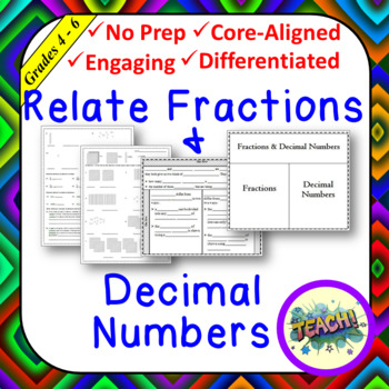 Relate Fractions & Decimal Numbers