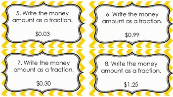 Relate Fractions, Decimals and Money