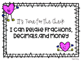 Relate Fractions, Decimals, and Money Amount (for print)