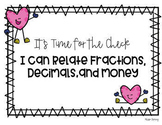 Relate Fractions, Decimals, and Money (Interactive Slides)