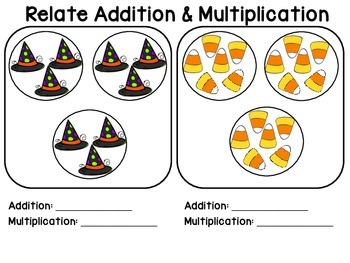 Relate Multiplation & Addition - Halloween Themed!