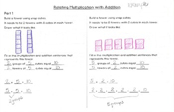 Relate Multiplication with Repeated Addition Activity