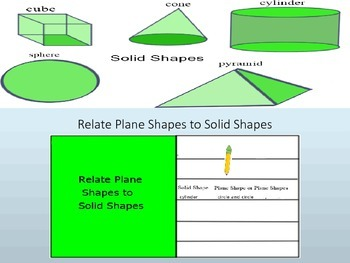 Plane Shapes to Solid Shapes Interactive Lesson