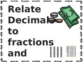 Relate decimals