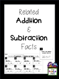 Related Addition & Subtraction Scoot/Task Cards/Write Arou