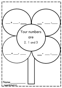 Related Addition and Subtraction Flower Facts