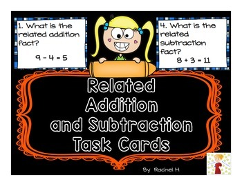 Related Addition and Subtraction Task Cards