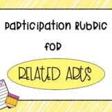 Related Arts Participation Rubric- Scribble Brights