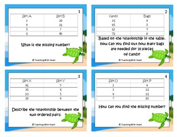 Related Data in a Table Scoot Activity/Task Cards