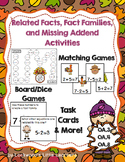 Related Fact, Missing Addend, Fact Family Games