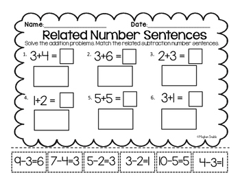 Related Fact Number Sentence-Cut and Paste- CC- ENY- Engage New York  Supplement