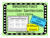 Related Fact Number Sentence-Cut and Paste- CC- ENY- Engag