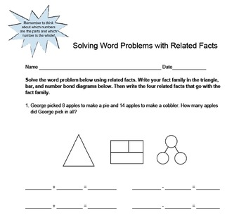 Related Fact Practice with Word Problems