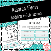 Related Facts - Addition & Subtraction Boom Cards
