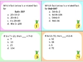 Related Facts Multipication and Division VA SOL 3.2, 3.4, 3.5, 4.4