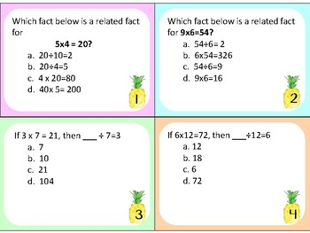 Related Facts Multipication and Division VA SOL 3.2, 3.4, 3.5