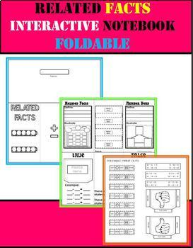 Related Facts Interactive Notebook Foldable (Number Bonds)