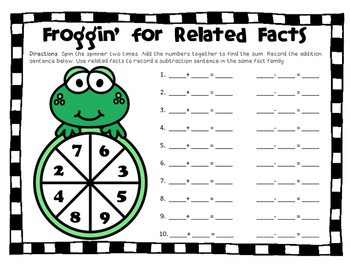 Related Facts Spinner Game
