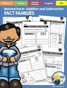 Related Facts Tutorial Worksheets(Fact Families)