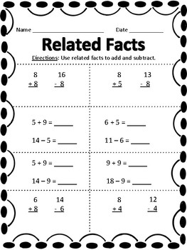Related Facts activity pack