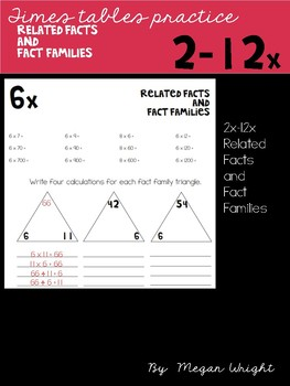 Related Facts and Fact Families 2-12x