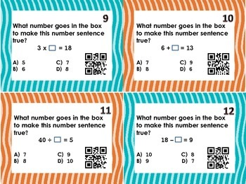 Related Facts/Fact Family Task Cards with QR Codes