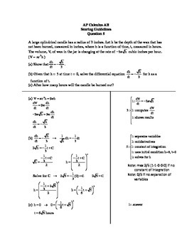 Related Rates Cylinder AP Question