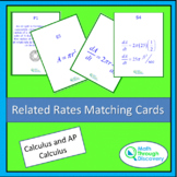 Calculus - Related Rates Matching Cards