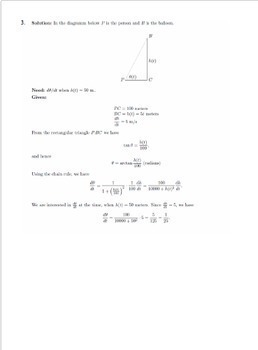 Calculus Related Rates Practice Problems No Prep