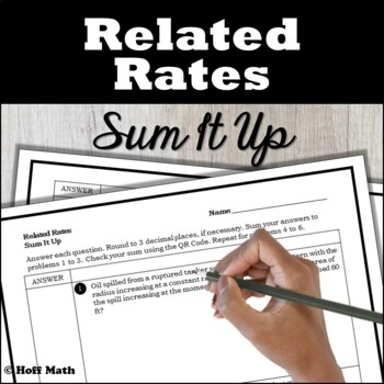 Related Rates Sum It Up