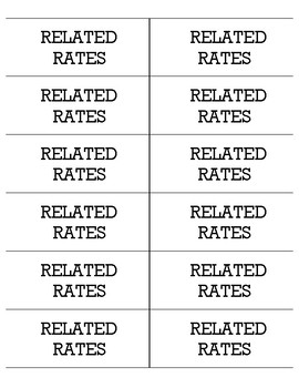 Related Rates (expansion set)