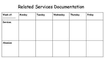 Related Services Form