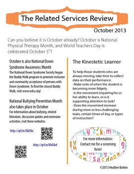 Related Services Newsletter - October 2013