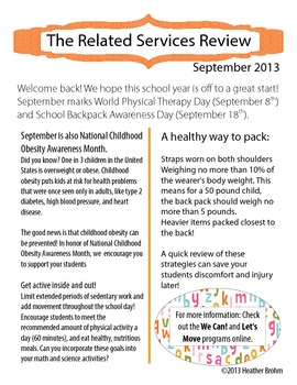 Related Services Newsletter - September 2013
