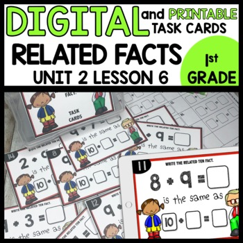 Related Ten Facts DIGITAL/PRINTABLE TASK CARDS