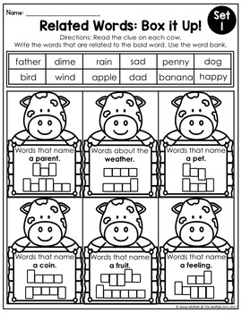 Related Words (Shades of Meaning) NO PREP Packet
