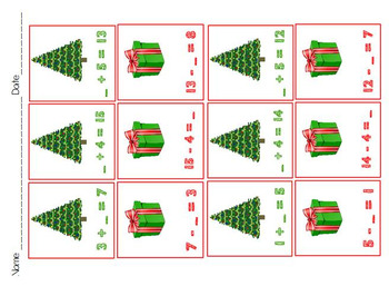 Related addition and subtraction Go Math Chapter 5 Christmas