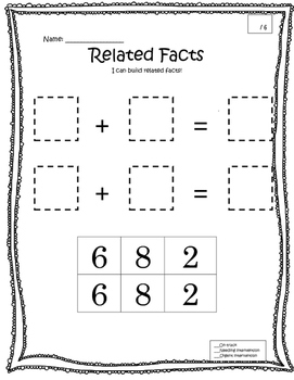 Related facts - Explanation - Assessment - Math - Addition