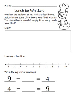 Relating Addition & Subtraction Word Problem (FREEBIE - first grade math)