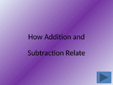 Relating Addition and Subtraction- Fact Families