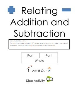Relating Addition and Subtraction Grades 1 and 2