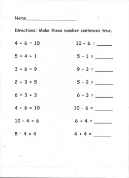 Relating Addition and Subtraction Sentences