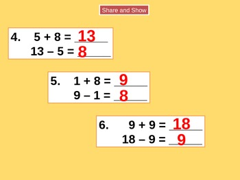 Relating Addition and Subtraction for Visual Learners