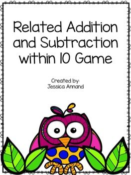 Relating Addition and Subtraction within 10 Game