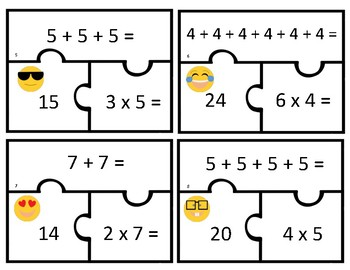 Relating Addition to Multiplication Puzzles