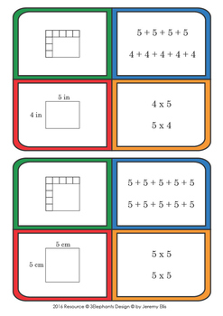 Relating Area to Multiplication and Addition Task Cards